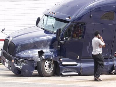 Trucking accident damage