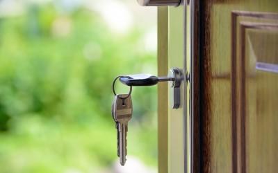 Key in House Door